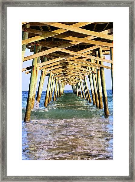 Emerald Isles Pier Framed Print