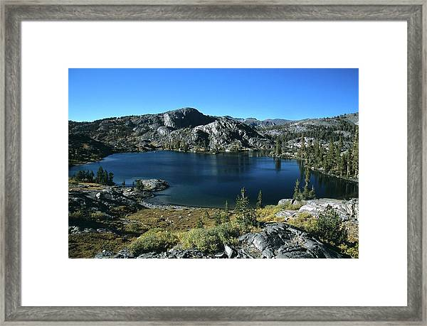 Emerald Lake From Jmt  Framed Print