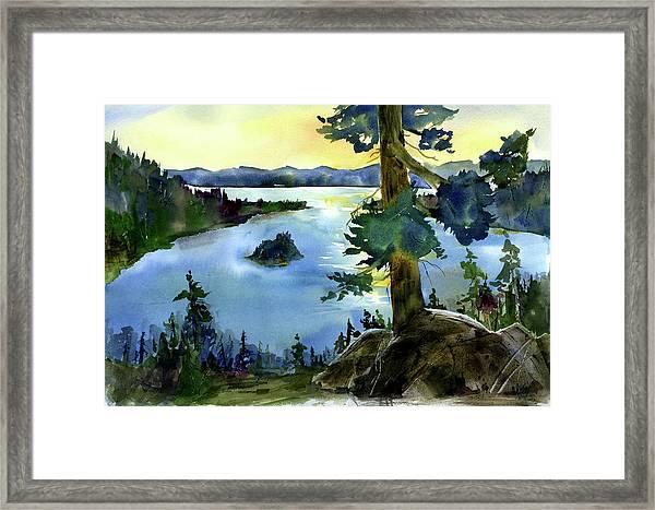 Emerald Morn, Lake Tahoe Framed Print