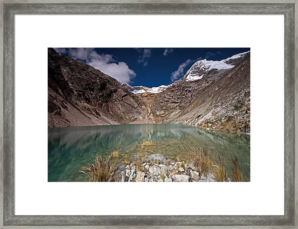 Emerald Mountain Lake Framed Print
