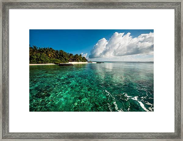 Emerald Purity. Maldives Framed Print
