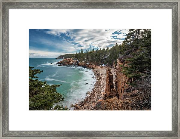 Emerald Shores At Monument Cove Framed Print