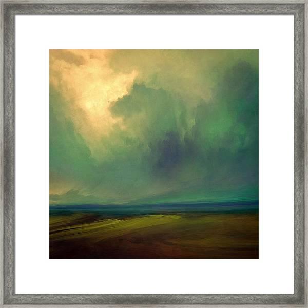 Emerald Sky Framed Print