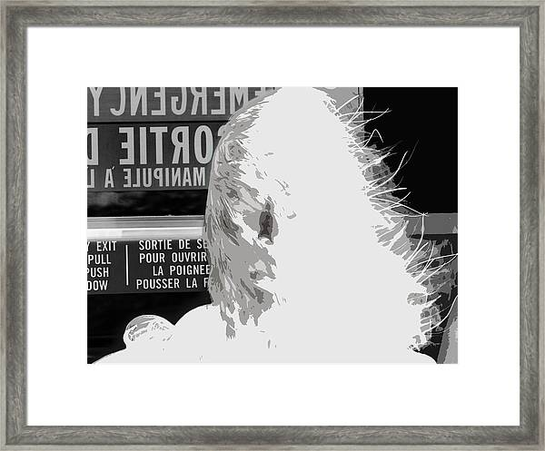 Emergency Exit Framed Print