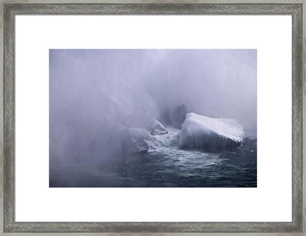Emerging From The Mist Framed Print