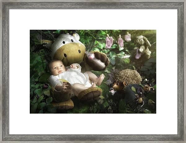 Emilie's World Framed Print by Christophe Kiciak