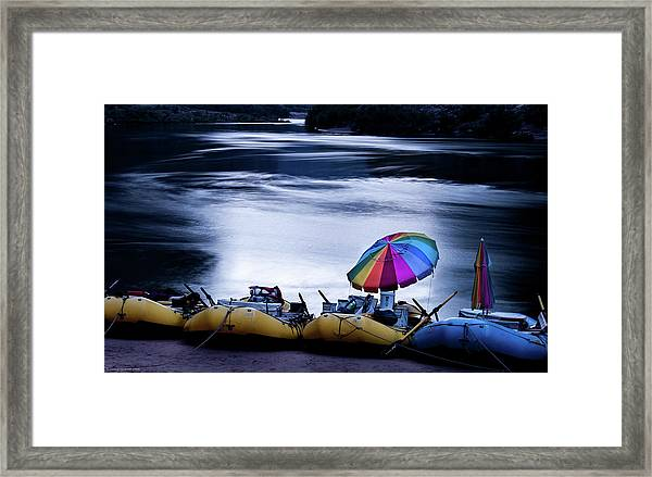 Framed Print featuring the photograph Eminence Camp Umbrella  by Britt Runyon