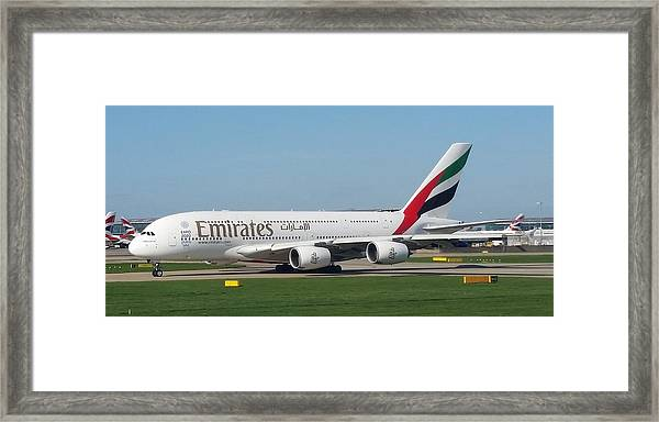 Emirates Airline Airbus A380-800 Framed Print
