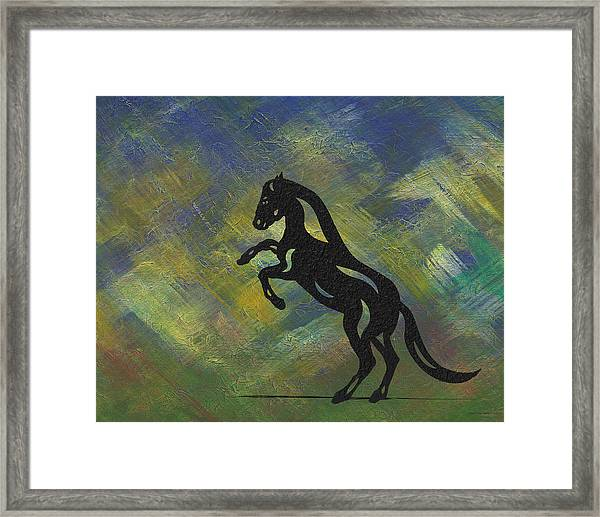 Emma - Abstract Horse Framed Print