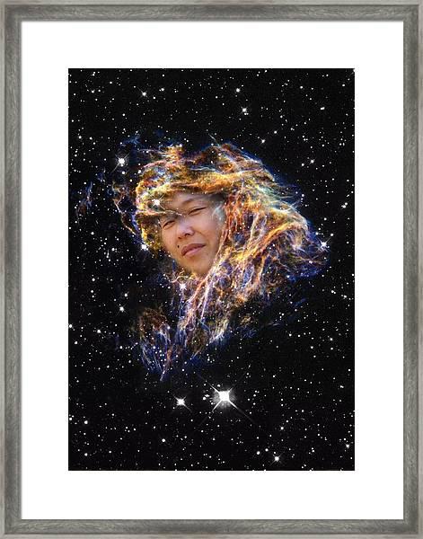 Emma's Spacewalk Framed Print