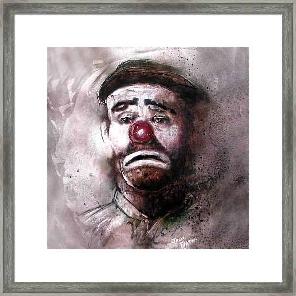 Emmit Kelly Clown Framed Print