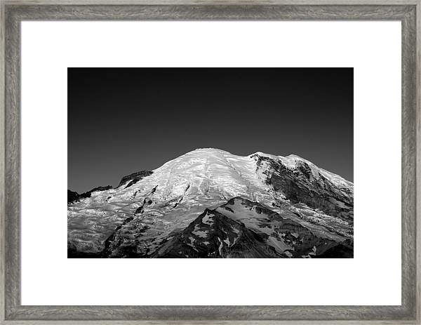 Emmons And Winthrope Glaciers On Mount Rainier Framed Print