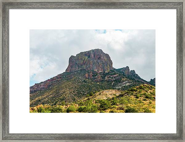 Emory Peak Chisos Mountains Framed Print
