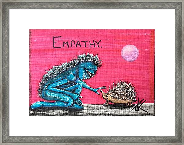 Empathetic Alien Framed Print