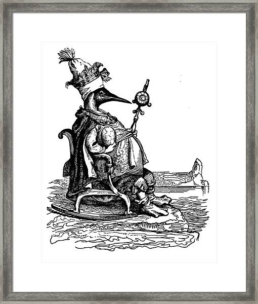 Empire Penguin Grandville Transparent Background Framed Print