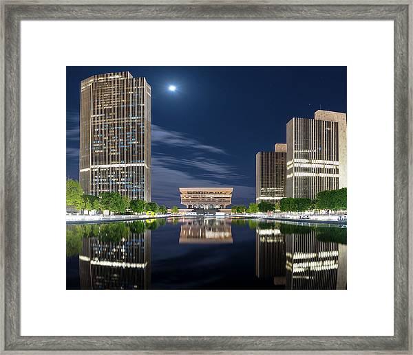 Empire State Plaza Framed Print