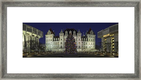 Empire State Plaza Holiday Framed Print