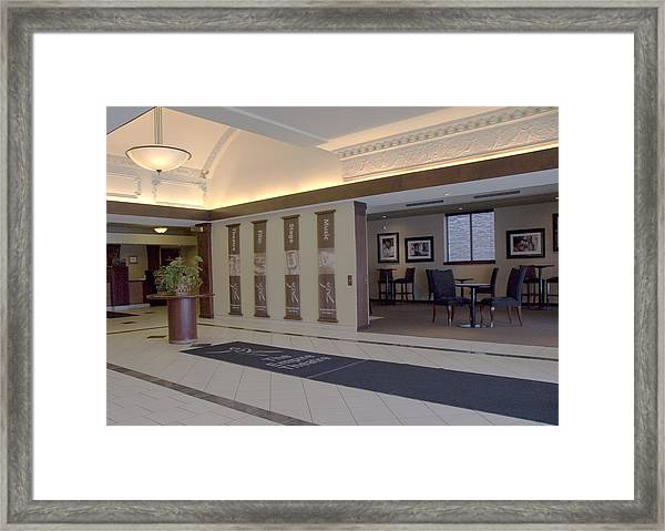 Empire Theatre Lobby Framed Print by Michael Rutland