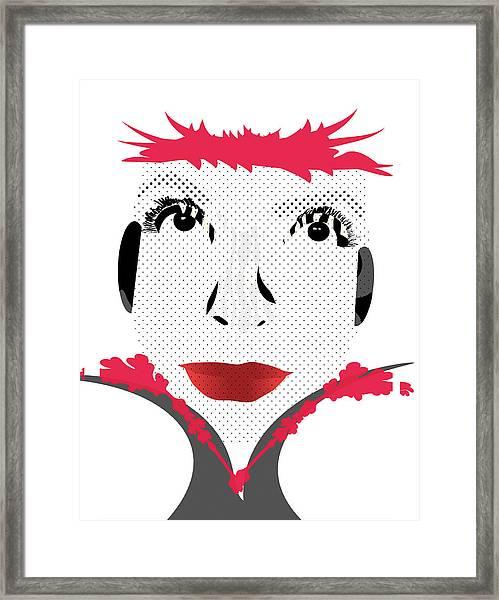 Empress Red Framed Print