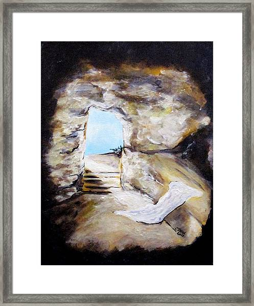 Empty Burial Tomb Framed Print
