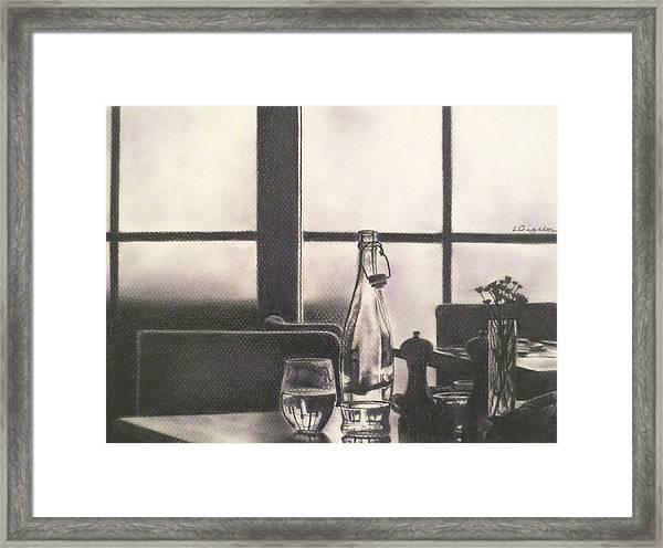 Empty Glass Framed Print