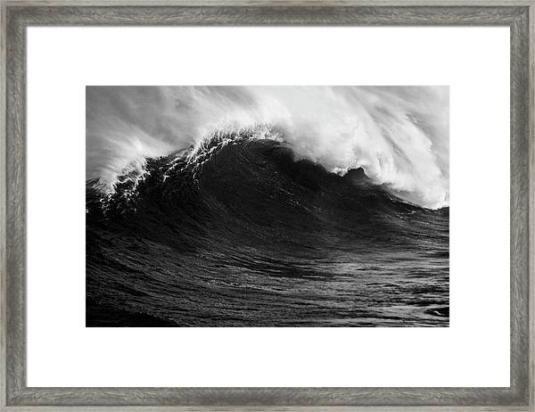 Empty Jaws Black And White Framed Print