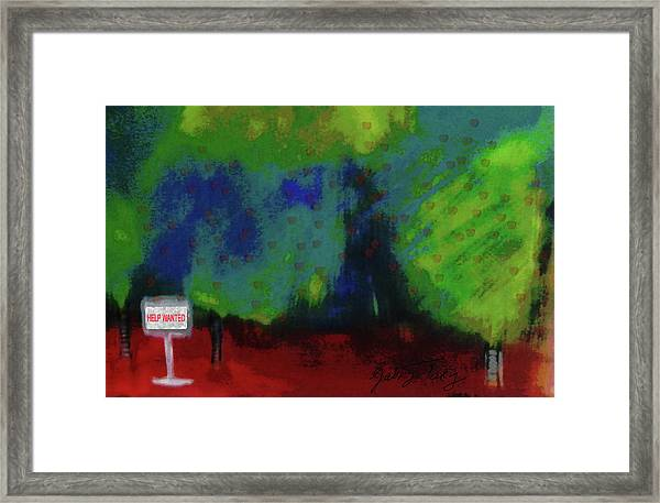 Empty Orchard Framed Print