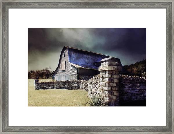 Empyrean Estate Stone Wall Framed Print