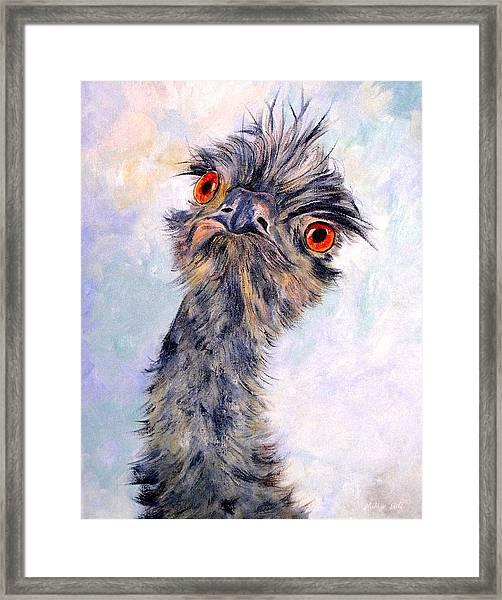 Emu Twister Framed Print