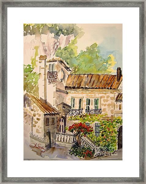 En Plein Air At Moulin De La Roque France Framed Print