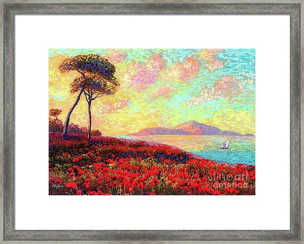 Enchanted By Poppies Framed Print