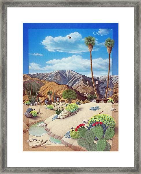 Enchanted Desert Framed Print