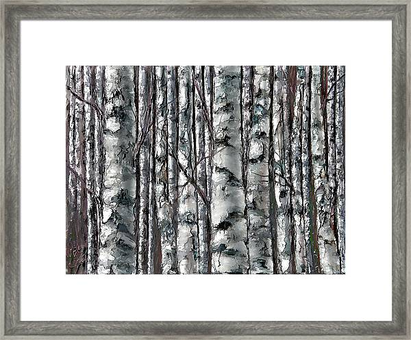 Enchanted Forest -black And White Framed Print