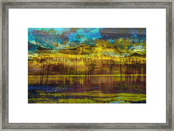 Framed Print featuring the digital art Enchanted Land by Visual Artist Frank Bonilla