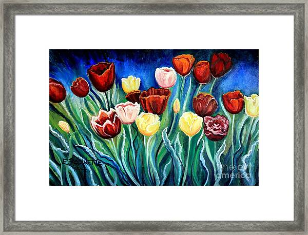 Enchanted Tulips Framed Print
