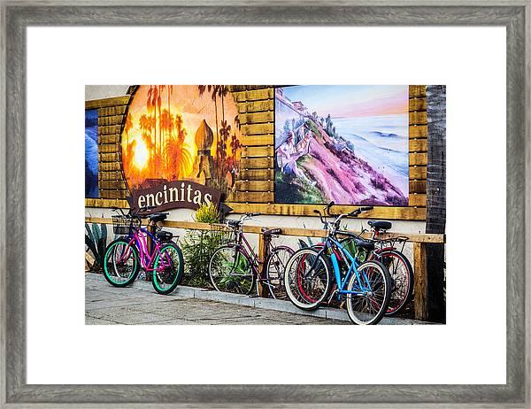 Bicycle Parking Framed Print