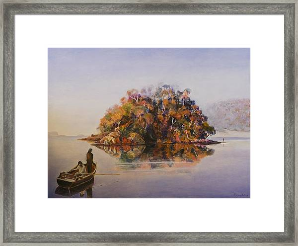 Encounter At Wineglass Bay Framed Print