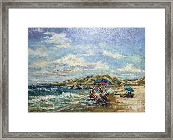 End Of Beach Day  Framed Print