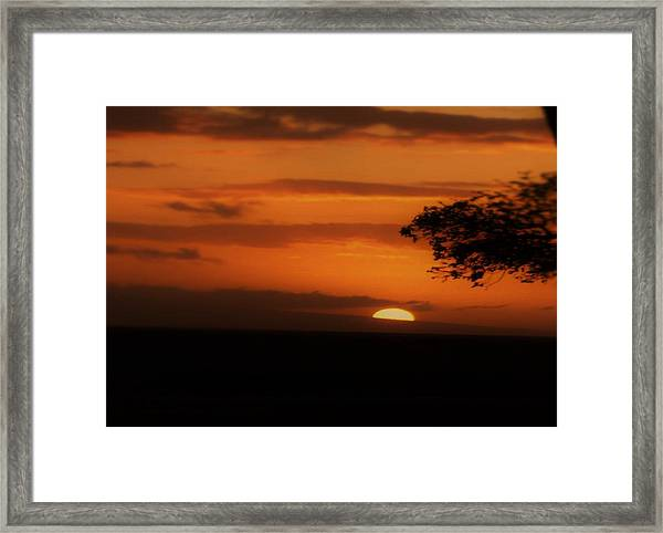End Of Day Framed Print