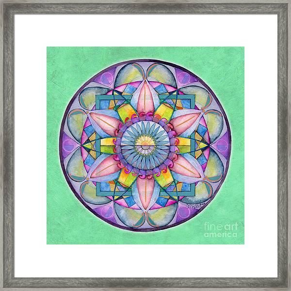 End Of Sorrow Mandala Framed Print