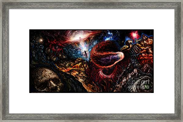 End Of Space Framed Print