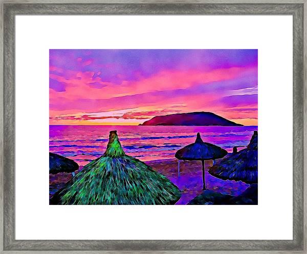 End Of The Beach Day In Mazatlan Framed Print