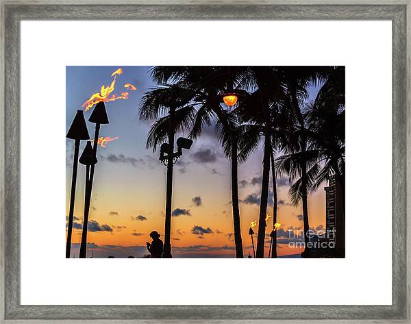 End Of The Beutiful Day.hawaii Framed Print