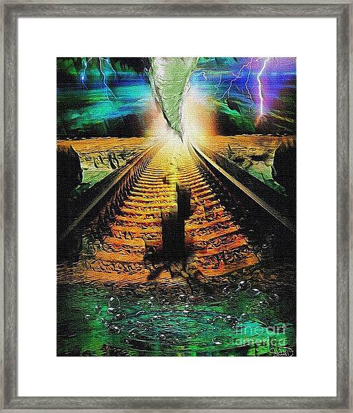 End Of The Cliff Framed Print