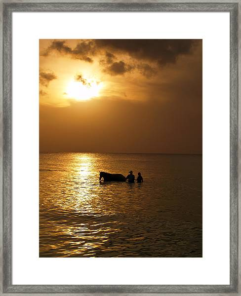 End Of The Day Framed Print by Linda Morland