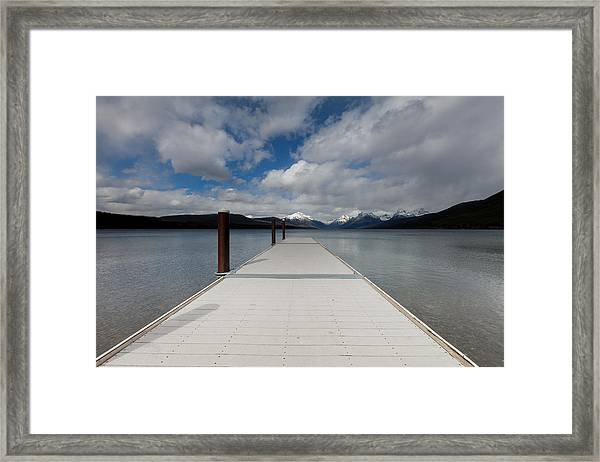 End Of The Dock Framed Print