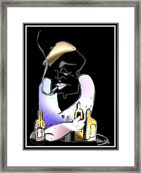 Framed Print featuring the painting End Of The Road Bar - Whiskey Willie by Larry Talley
