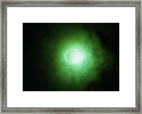 End Of Totality Framed Print