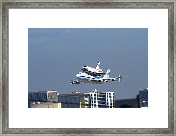 Endeavous Final Flight Lax Framed Print