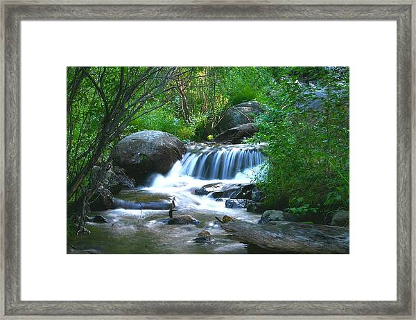 Endo Valley Waterfall Framed Print